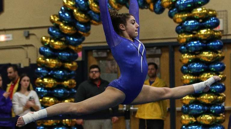 Stephanie Carta of Port Washington competes in the