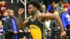 Malik Barrett of Uniondale wins the 55 Meter