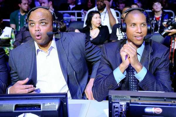 Former NBA players Charles Barkley and Reggie Miller,
