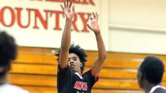 Knox's Jaden DeJesus goes from outside during the