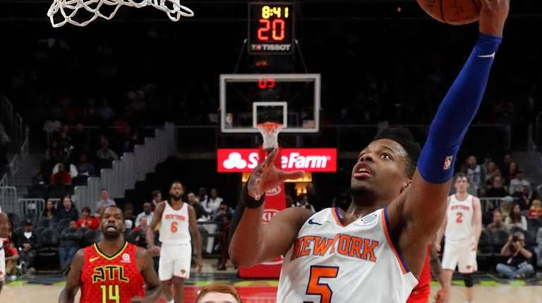 New York Knicks guard Dennis Smith Jr. (5)
