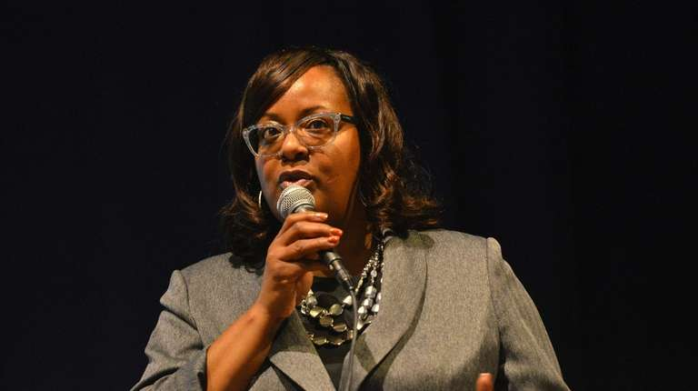 Acting District Superintendent Regina Armstrong at the Hempstead