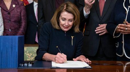 Speaker of the U.S. House of Representatives Nancy