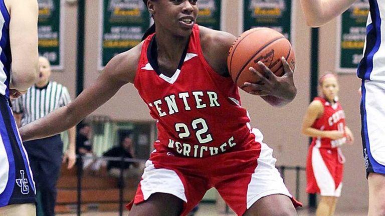 Center Moriches' Amber Davis showed tremendous grit in