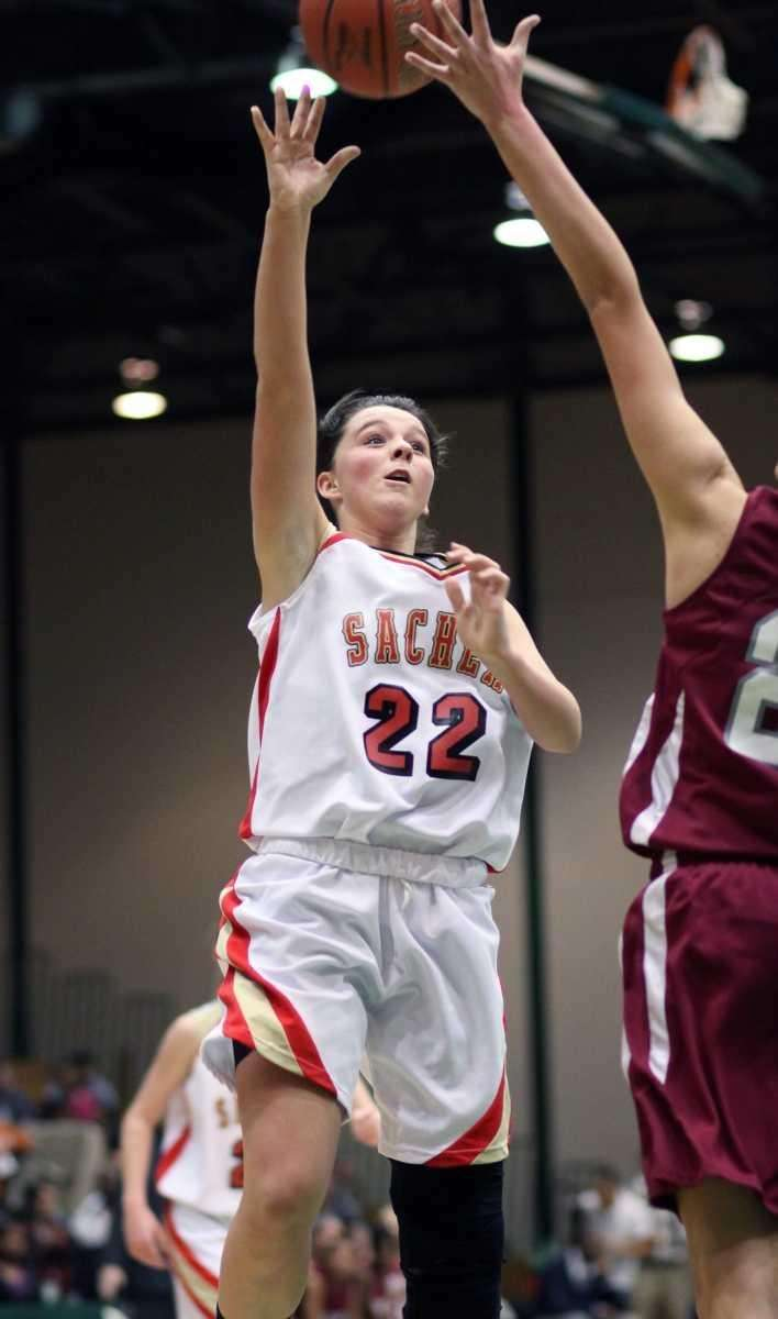 Sachem East's Meagan Doherty with the basket during