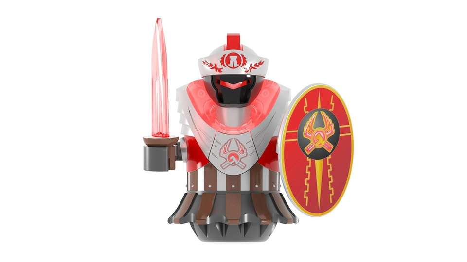 Kids can select their hero: the Centurion (an