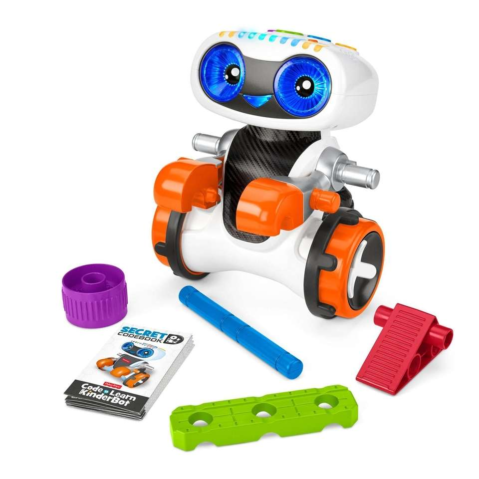 Kinderbot, a programmable robot, teaches kids how to