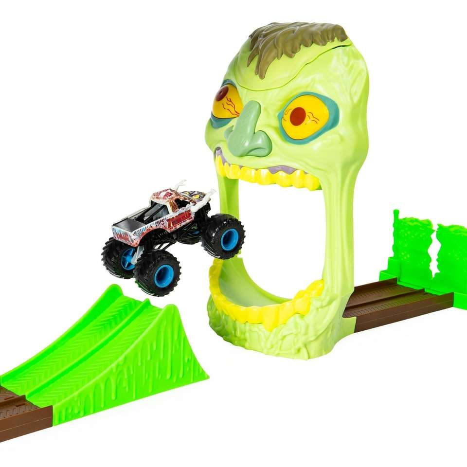 Launch the Zombie Monster Jam truck through the