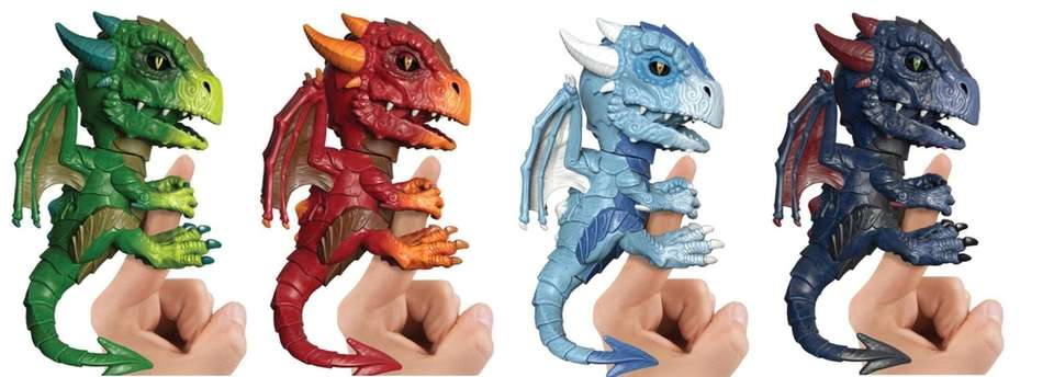 The new Fingerlings Untamed Dragons feature colored LED