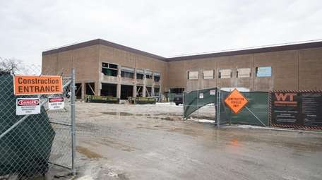 Redevelopment is underway at Huntington Square Mall in
