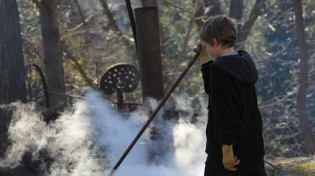 Maple sugaring at Benner's Farm in East Setauket.