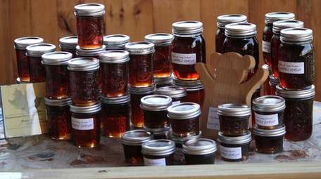 Maple syrup that's sold at the farm.