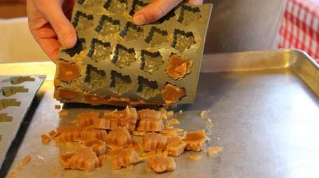 Maple candy being made at the farm.