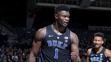 Duke freshman Zion Williamson is the projected No.