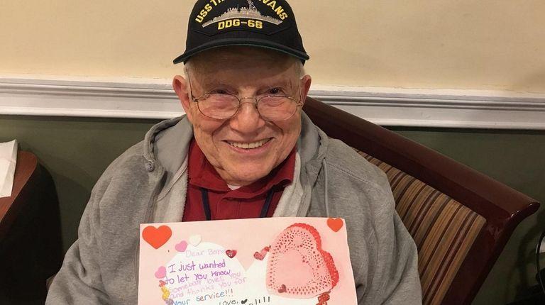 Korean War veteran Bernard Fradkin, a resident of