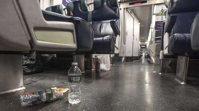 Litter on trains is an issue that keeps