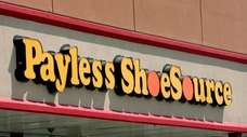 A view of a Payless ShoeSource store front