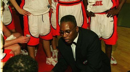 Stony Brook's men's basketball coach Bernard Tomlin talks