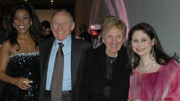 Opera singer Denyce Graves, left, Erwin Staller, Freddie