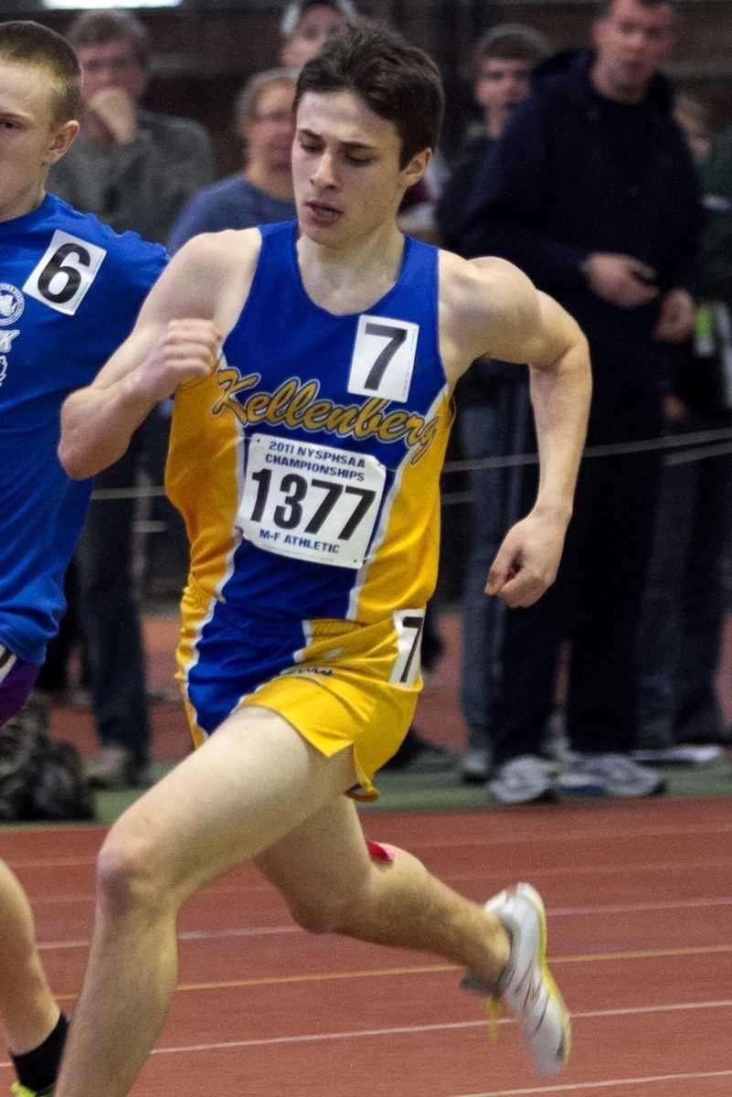 Kellenberg's James Agati runs during the 1000 meter