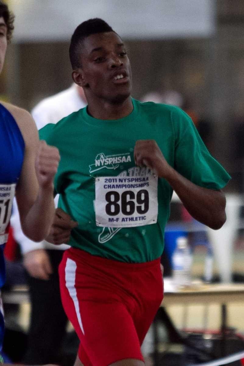 Freeport's Jonathon Greenwood competes in the 600 meter