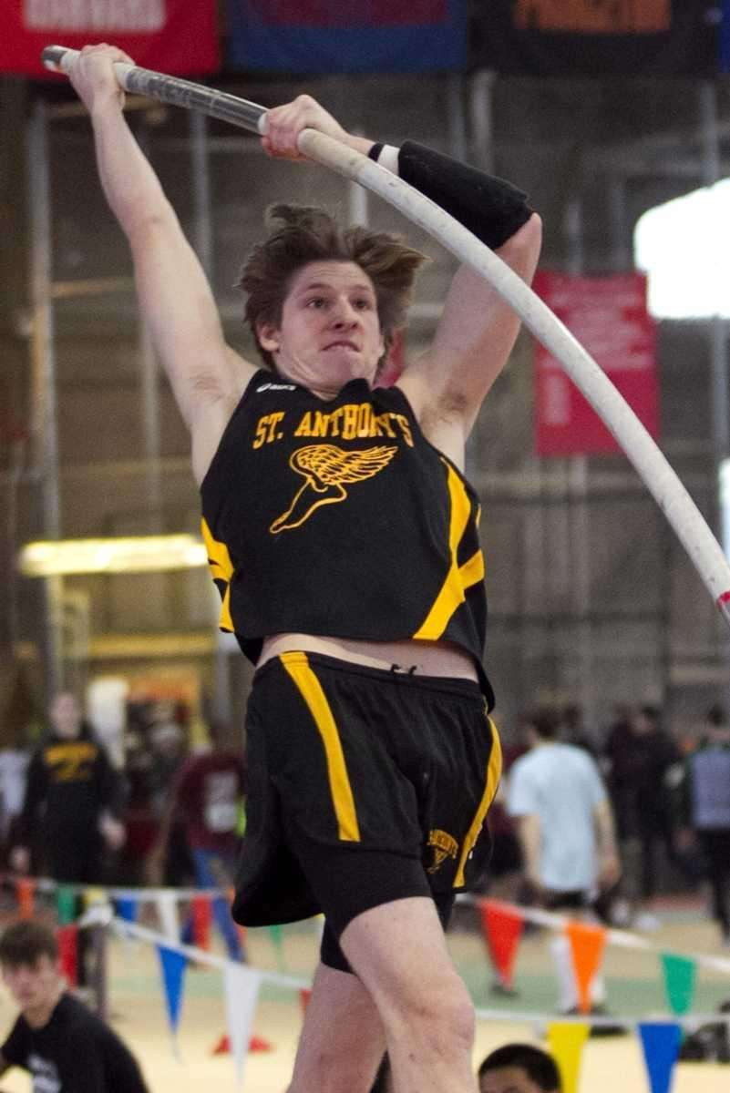 St. Anthony's Michael Brunoforte competes in the pole
