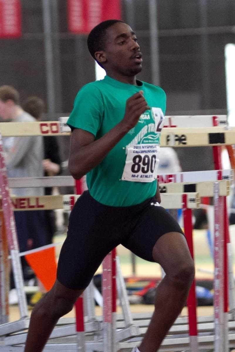 Wstbury's Owen Skeete competes in the 1600 meter