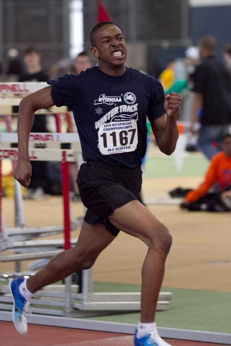 Longwood's Joe Fuller competes in the 600 meter
