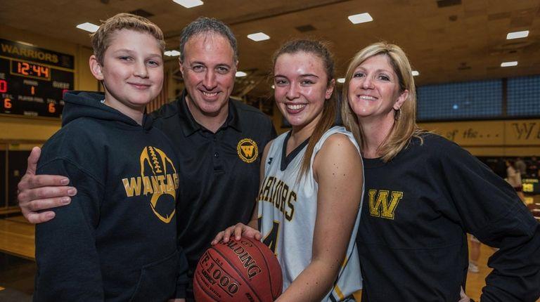 Wantagh's Irene Huguet (14, left center), along with