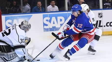 Filip Chytil, a 19-year-old rookie, shown here on