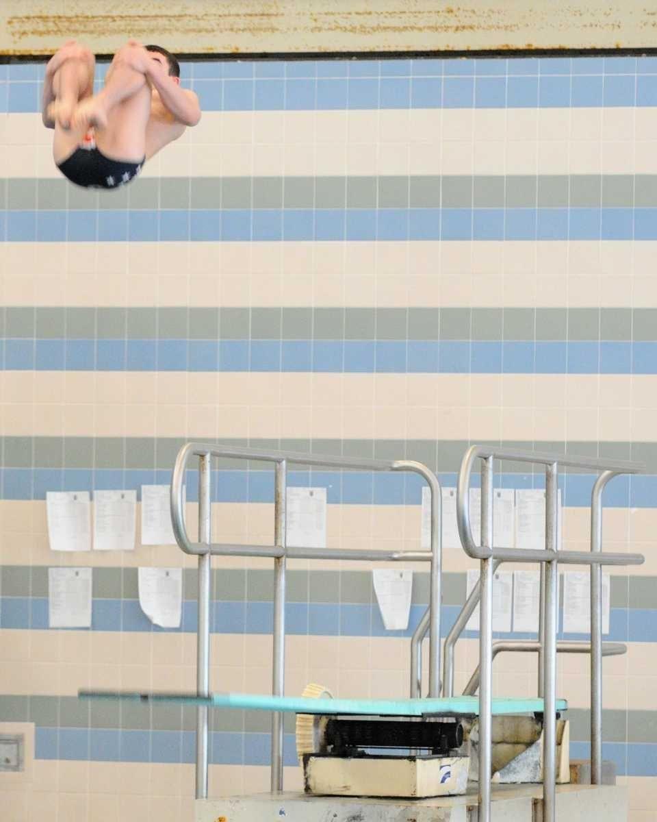Sachem East High School sophomore Anthony Stefanelli flips
