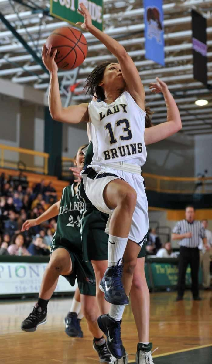 Baldwin senior Keira Corbin (13) drives to the