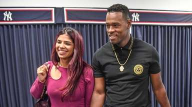 Yankees Pitcher Luis Severino and his wife