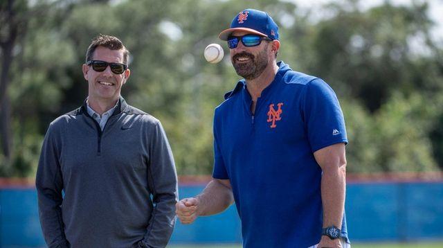 Mets GM Brodie Van Wagenen (left) and manager