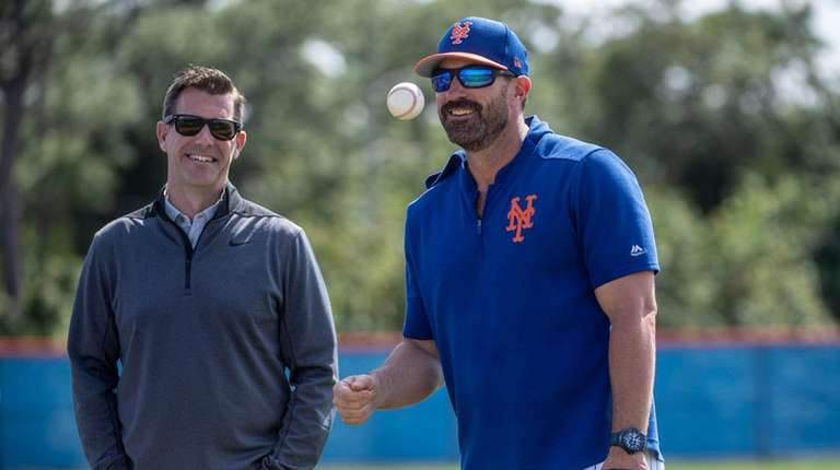 Mets GM Brodie Van Wagenen (left) and manager
