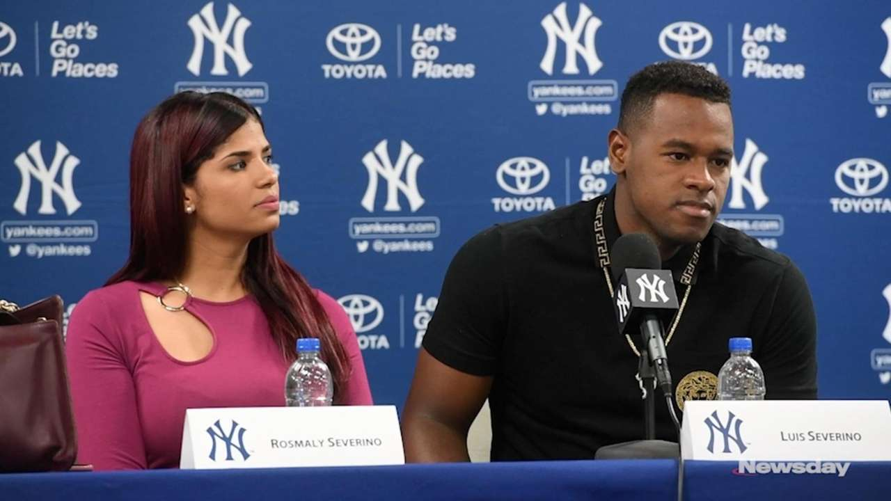 On Saturday, Luis Severino talked about joining the Yankees