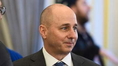 Yankees GM Brian Cashman attends the press conference