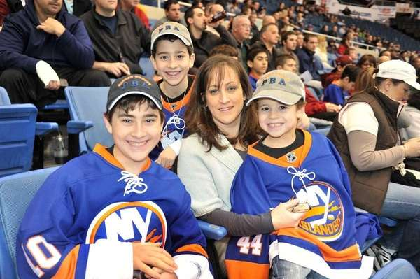Jackie Califano with her children, (clockwise from left)