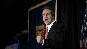 Gov. Andrew Cuomo presents his budget message at