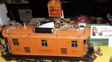 A Lionel model electric train car of a