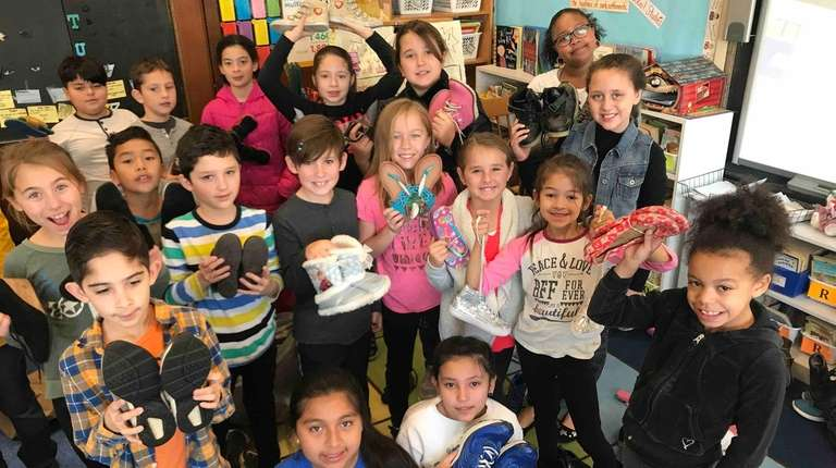 Members of Southampton Elementary School's Student Council collected