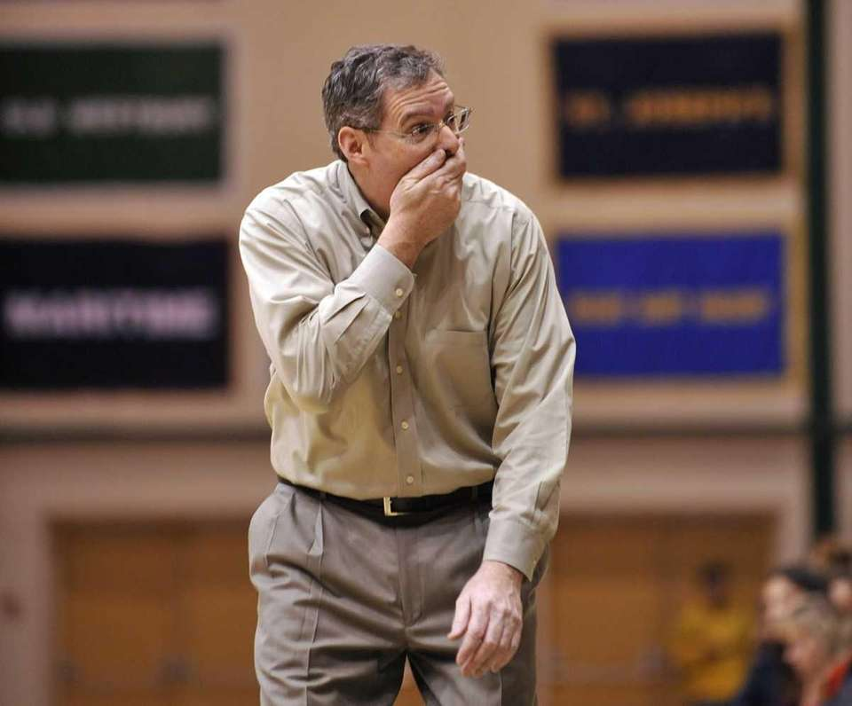 Center Moriches coach Rich Alifano reacts with disbelief