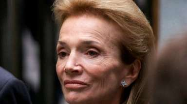 Lee Radziwill at a Mass for John F.