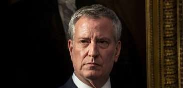 New York City Mayor Bill de Blasio at