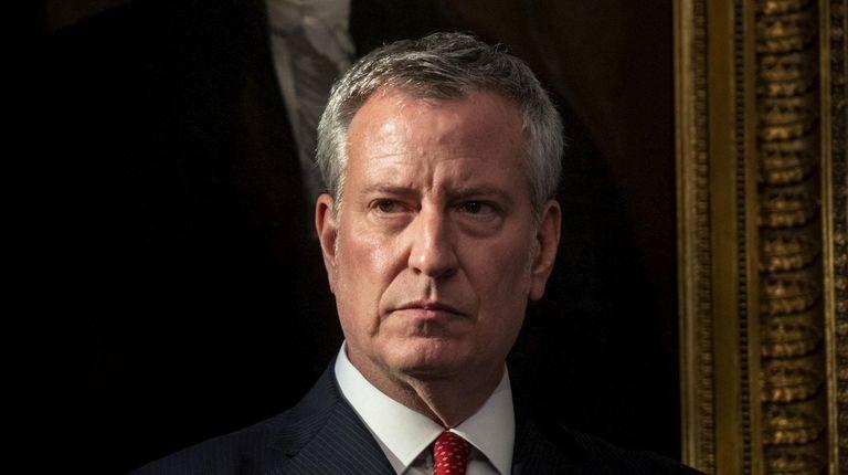 New York City Mayor Bill de Blasio at