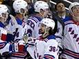 Rangers' Mats Zuccarello (36) celebrates his goal as