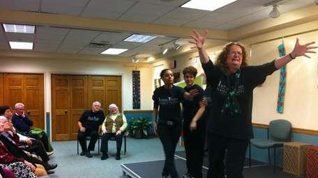 Actors with Playback Theater Long Island perform an