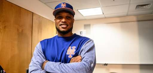 Robinson Cano holds court with reporters on Sunday,