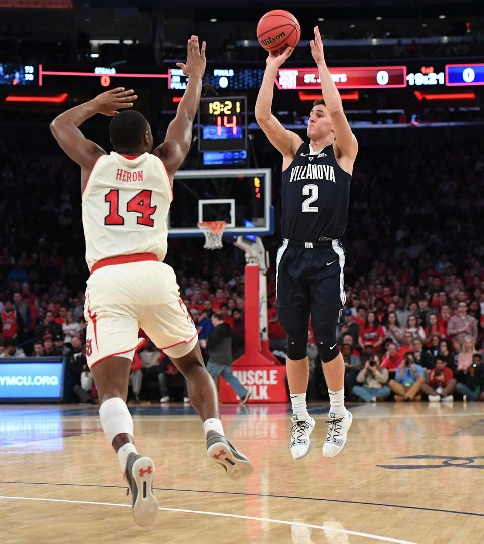 Villanova guard Collin Gillespie puts up a shot