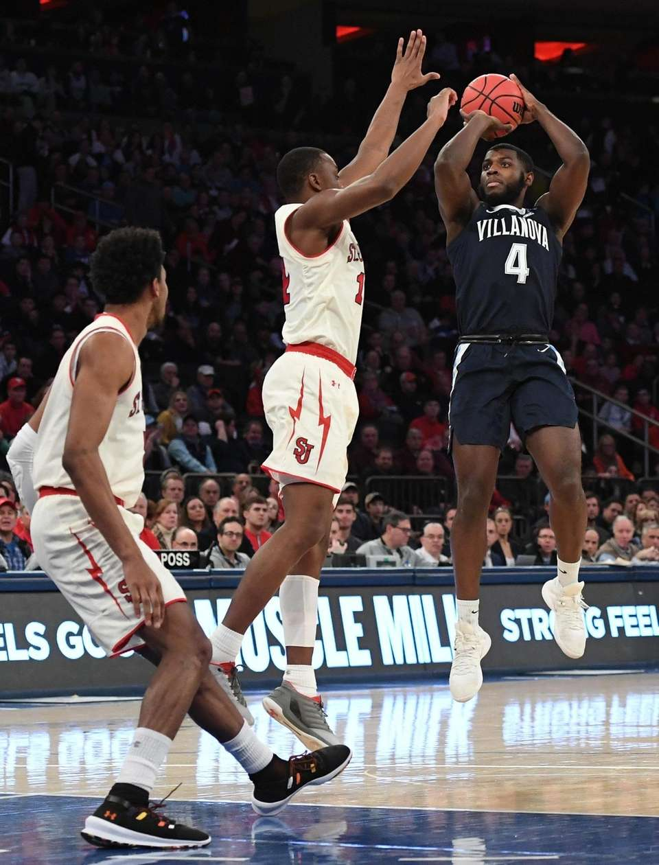 Villanova forward Eric Paschall shoots over St. John's